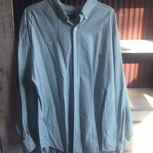 Green and Blue Check Long Sleeve Ralph Lauren